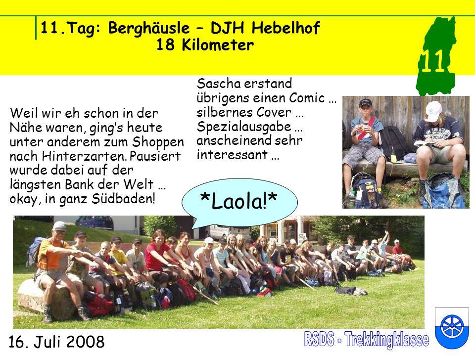 11.Tag: Berghäusle – DJH Hebelhof 18 Kilometer 16.