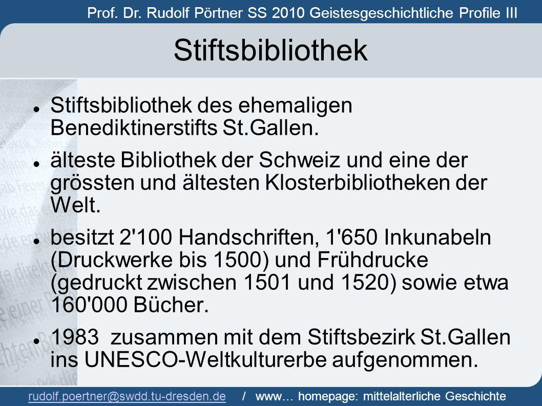 Prof. Dr. Rudolf Pörtner SS 2010 Geistesgeschichtliche Profile III Prof.