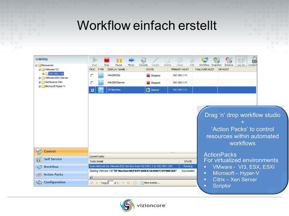 Workflow einfach erstellt