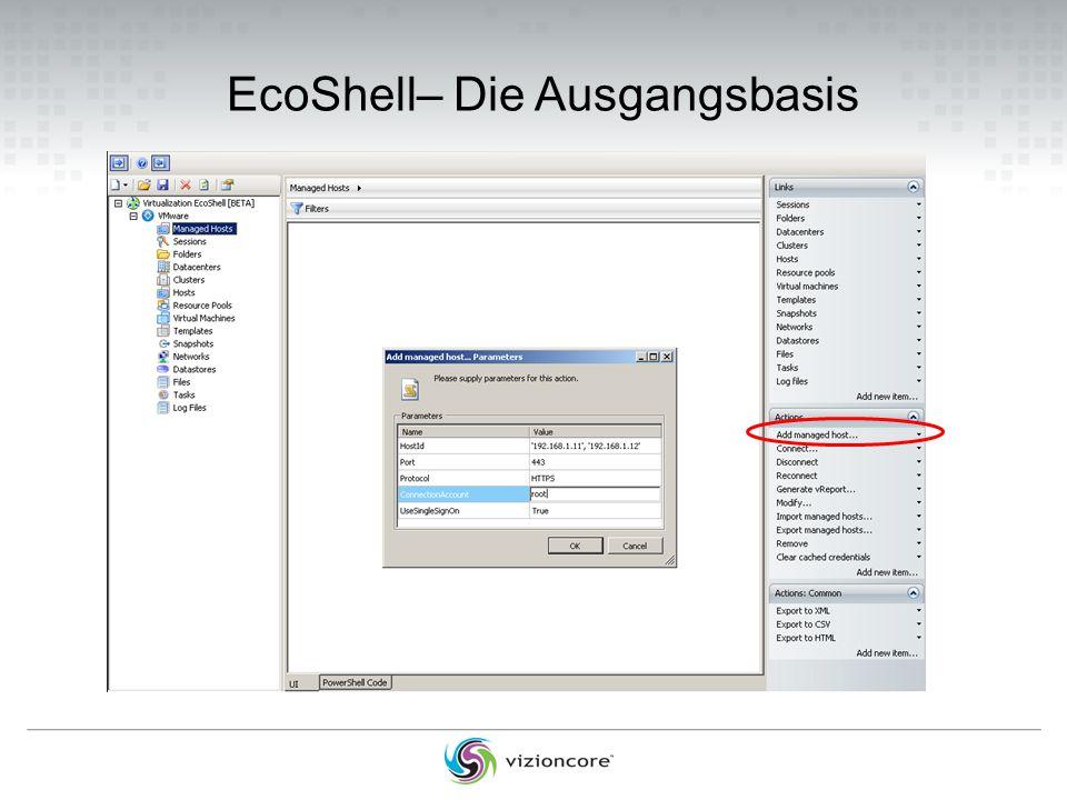 EcoShell– Die Ausgangsbasis