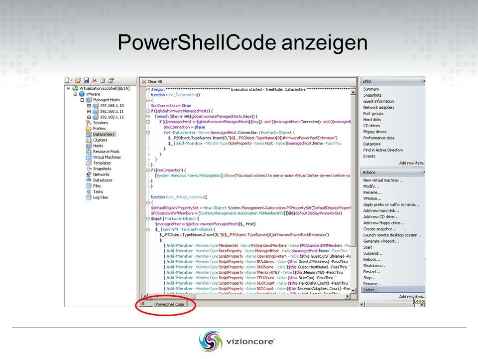 PowerShellCode anzeigen