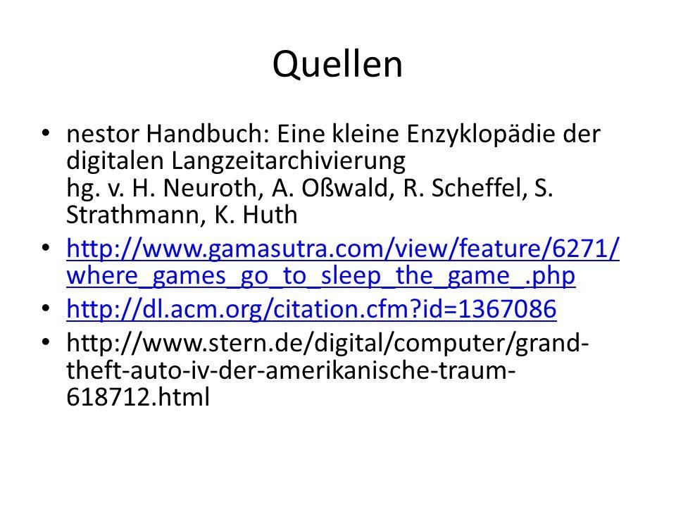 Quellen nestor Handbuch: Eine kleine Enzyklopädie der digitalen Langzeitarchivierung hg.