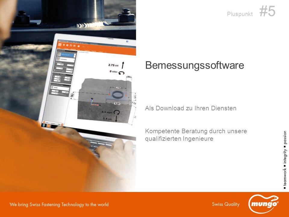 Bemessungssoftware Als Download zu Ihren Diensten Pluspunkt #5 Kompetente Beratung durch unsere qualifizierten Ingenieure