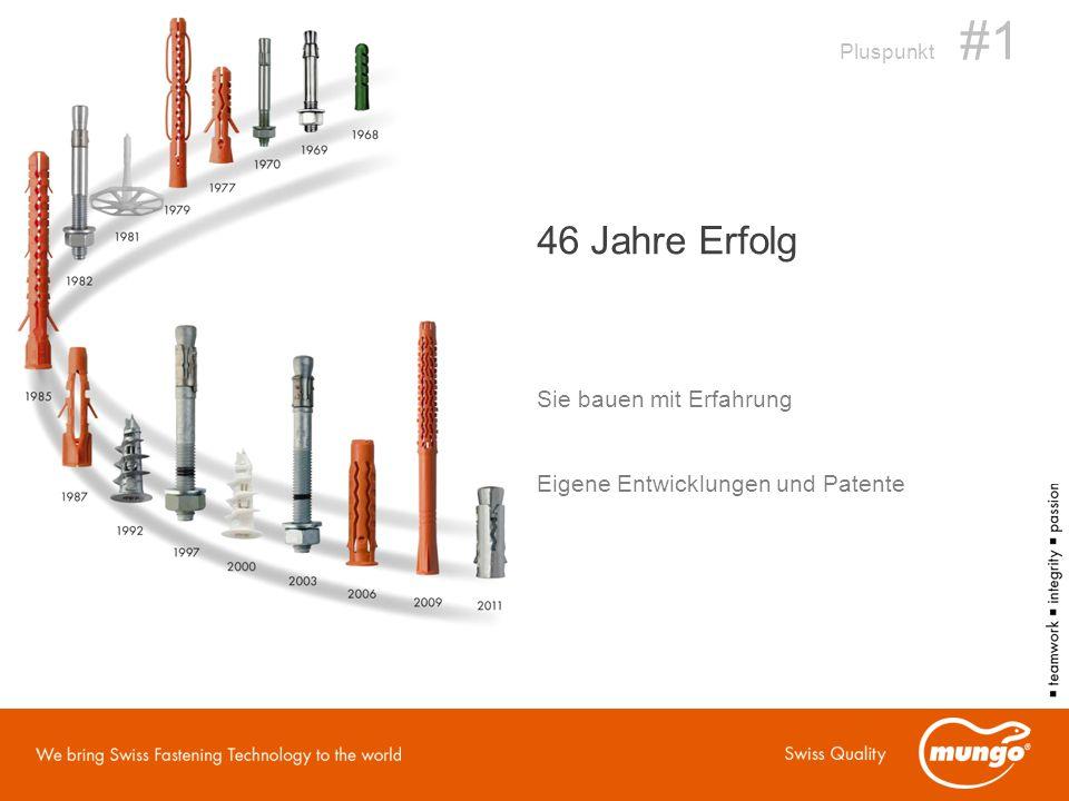 Pluspunkt #1 46 Jahre Erfolg Sie bauen mit Erfahrung Eigene Entwicklungen und Patente