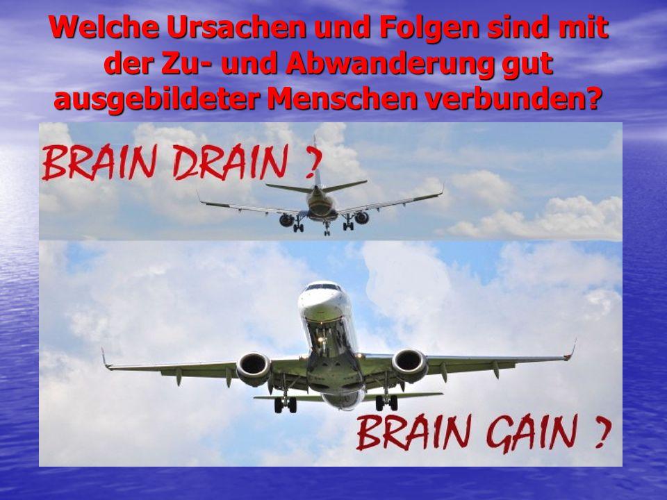 Brain Drain Der Abfluss von Gehirn Die Auswanderung hoch qualifizierter Fachkräfte Etablierte sich nach dem Zweiten Weltkrieg