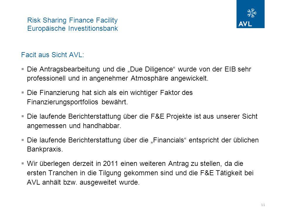 12 Risk Sharing Finance Facility Europäische Investitionsbank Weiterentwicklung des Programms (Wunschzettel):  Das Programm stellt eine gute Möglichkeit dar Forschung & Entwicklung zu unterstützen.