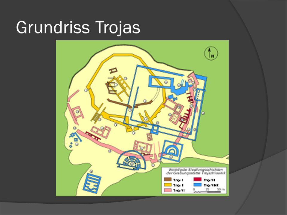 Querschnitt der Grabungsstätte von Troja / Hisarlik