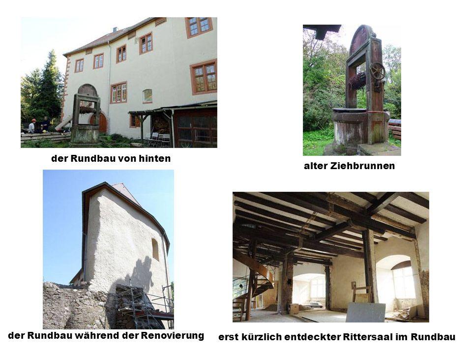 der sogenannte Rundbaudie Schloßmauer mit Zinnen Innenhof