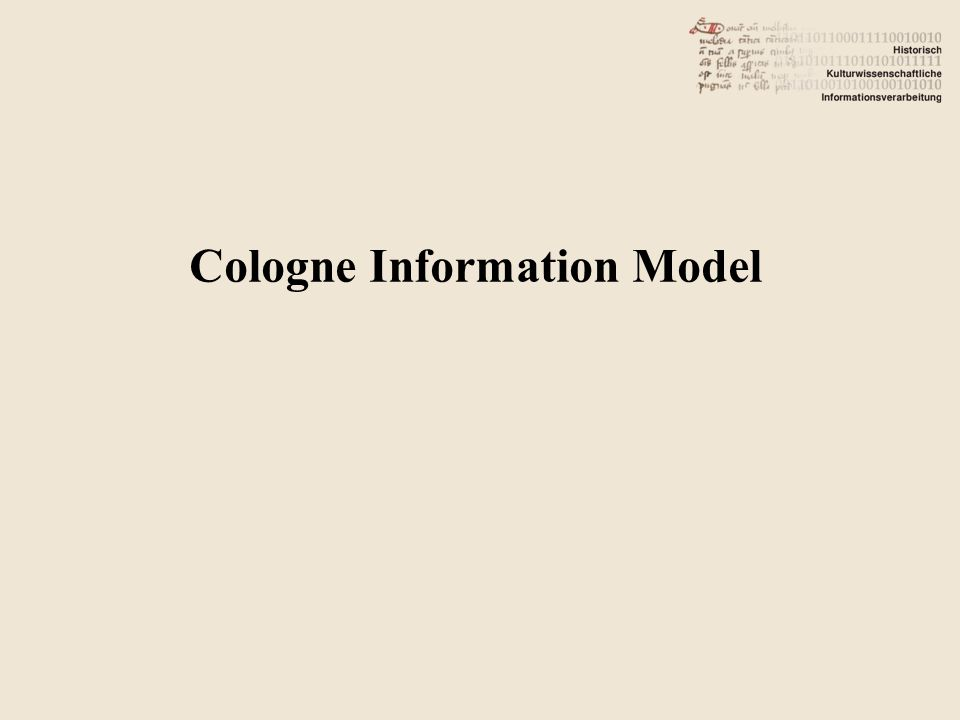 Cologne Information Model