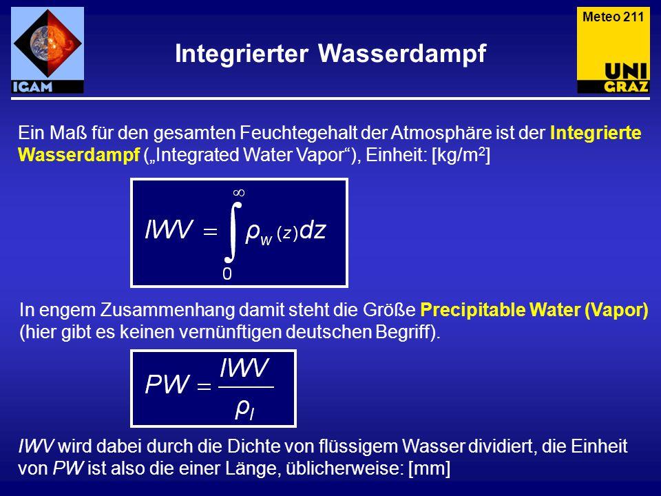 Meteo 212 Precipitable Water