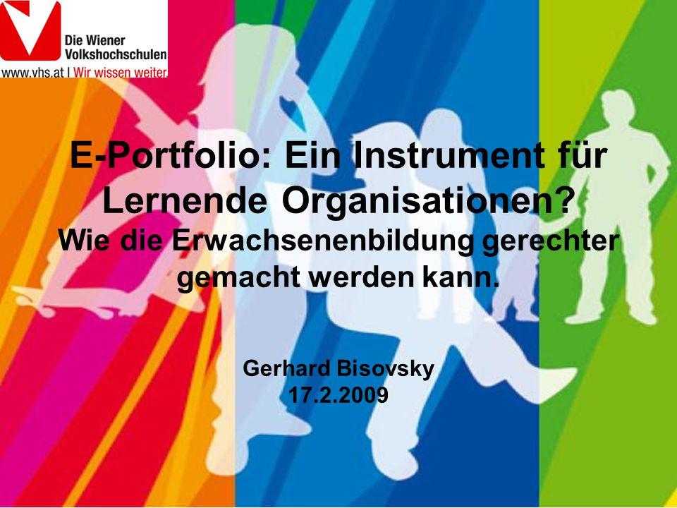 E-Portfolio: Ein Instrument für Lernende Organisationen.