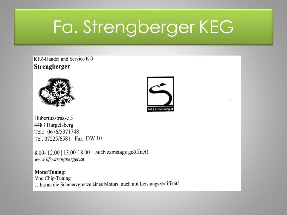 Fa. Strengberger KEG