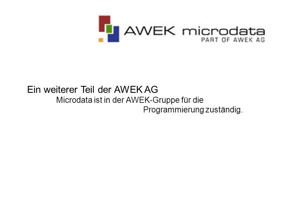 Ein weiterer Teil der AWEK AG Microdata ist in der AWEK-Gruppe für die Programmierung zuständig.