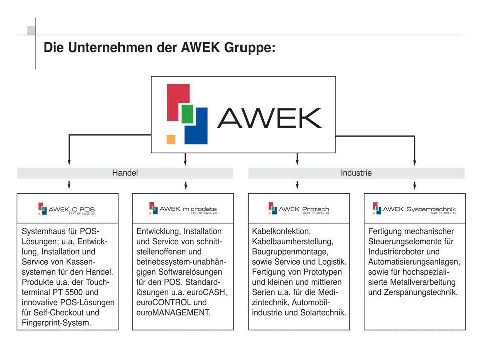 Kontakt AWEK microdata GmbH Am Wellbach 4 D-33609 Bielefeld Telefon: +49 (0)521 / 97 22 6-0 Telefax: +49 (0)521 / 97 22 6-30 E-Mail: info@awek-microdata.de Internet: www.awek-microdata.de