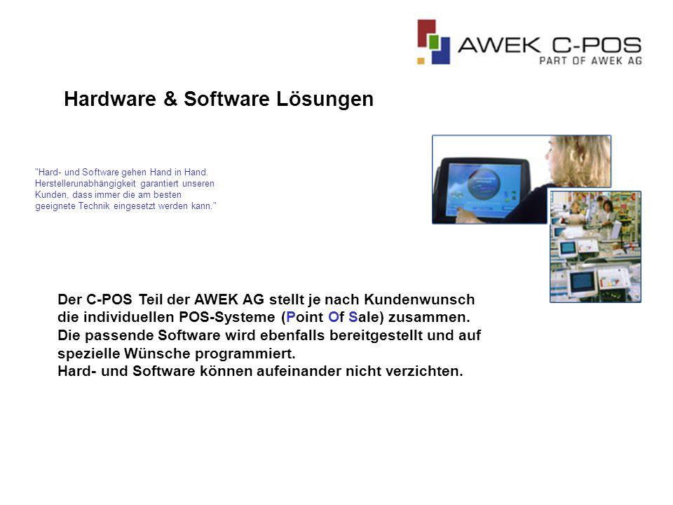 Hardware & Software Lösungen Hard- und Software gehen Hand in Hand.