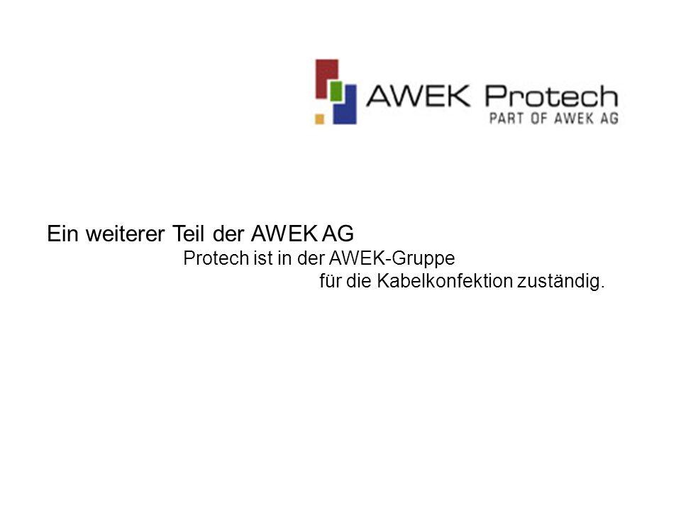 Ein weiterer Teil der AWEK AG Protech ist in der AWEK-Gruppe für die Kabelkonfektion zuständig.