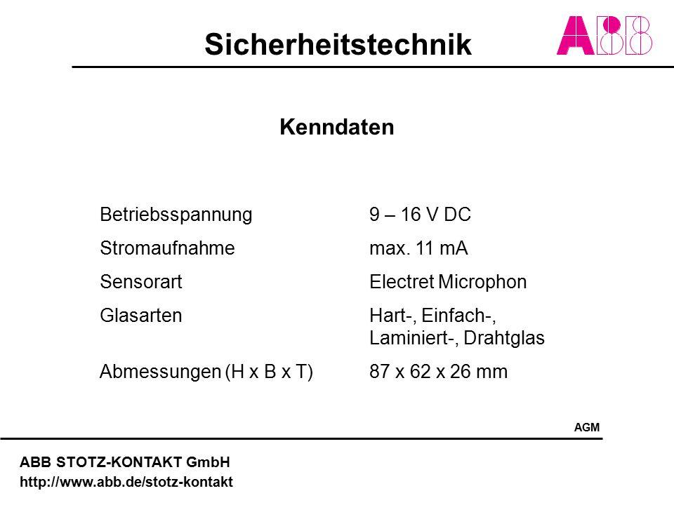 Sicherheitstechnik ABB STOTZ-KONTAKT GmbH http://www.abb.de/stotz-kontakt Kenndaten Betriebsspannung 9 – 16 V DC Stromaufnahme max. 11 mA SensorartEle