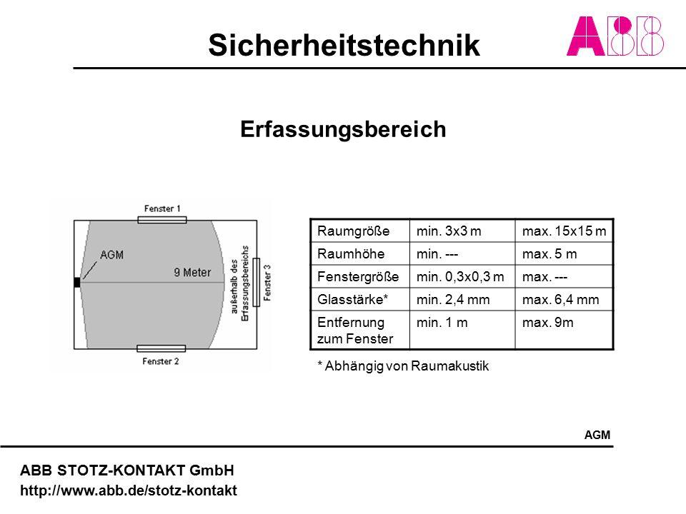 Sicherheitstechnik ABB STOTZ-KONTAKT GmbH http://www.abb.de/stotz-kontakt Erfassungsbereich Raumgrößemin. 3x3 mmax. 15x15 m Raumhöhemin. ---max. 5 m F