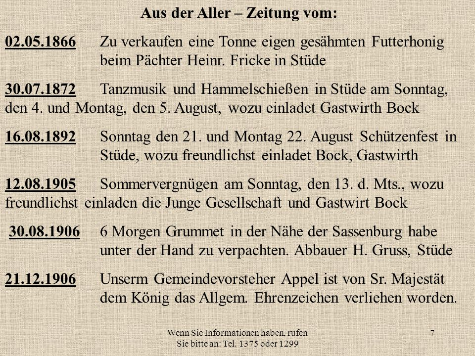 Wenn Sie Informationen haben, rufen Sie bitte an: Tel. 1375 oder 1299 17 Rheinfahrt 1952