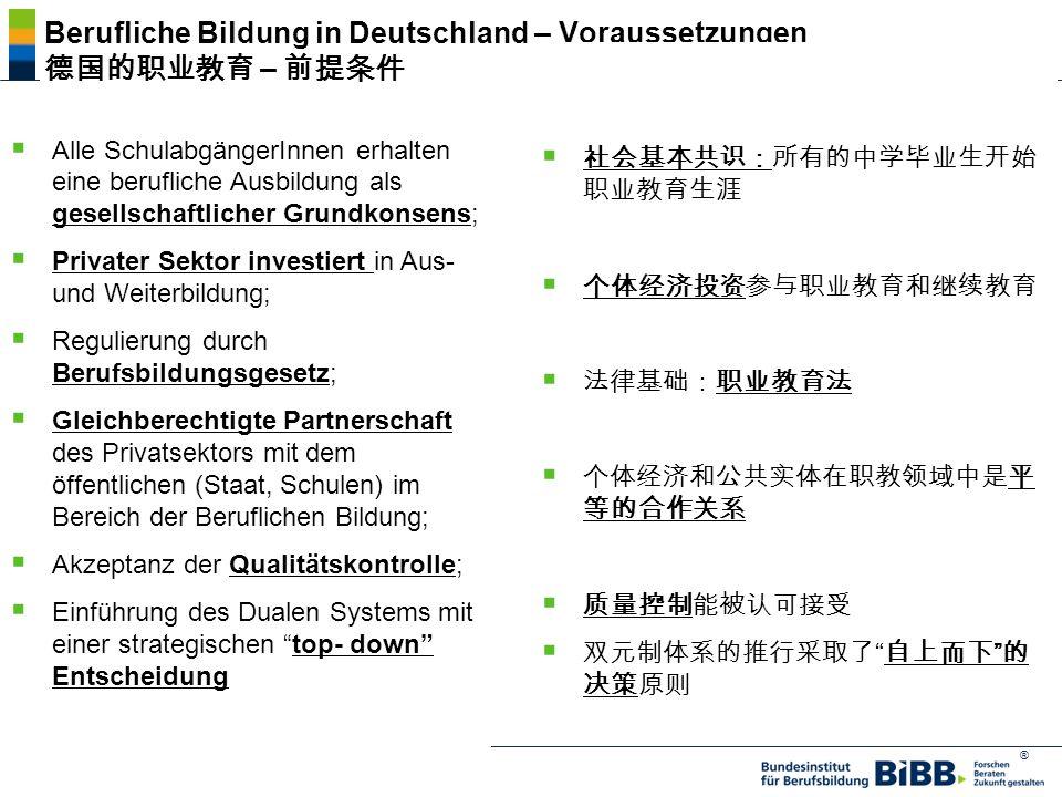 ® Berufliche Bildung in Deutschland – Voraussetzungen