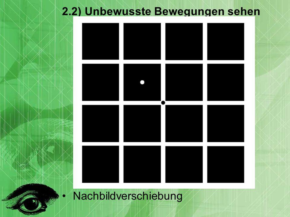 2.2) Unbewusste Bewegungen sehen Nachbildverschiebung