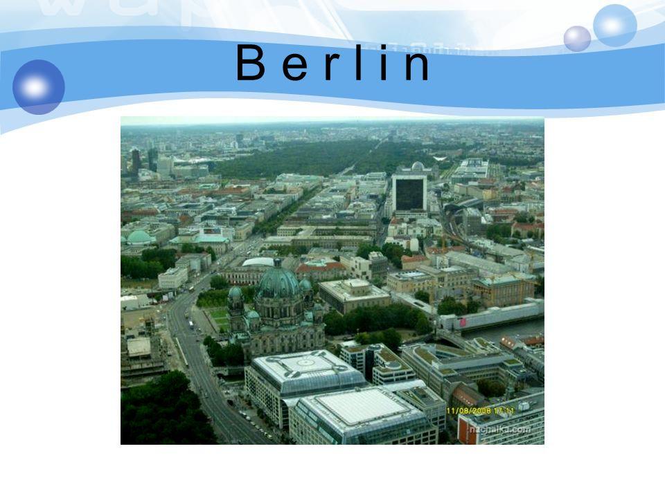Berlin ist die Hauptstadt der BRD.Es zaehlt 3,4 Millionen Einwohner.