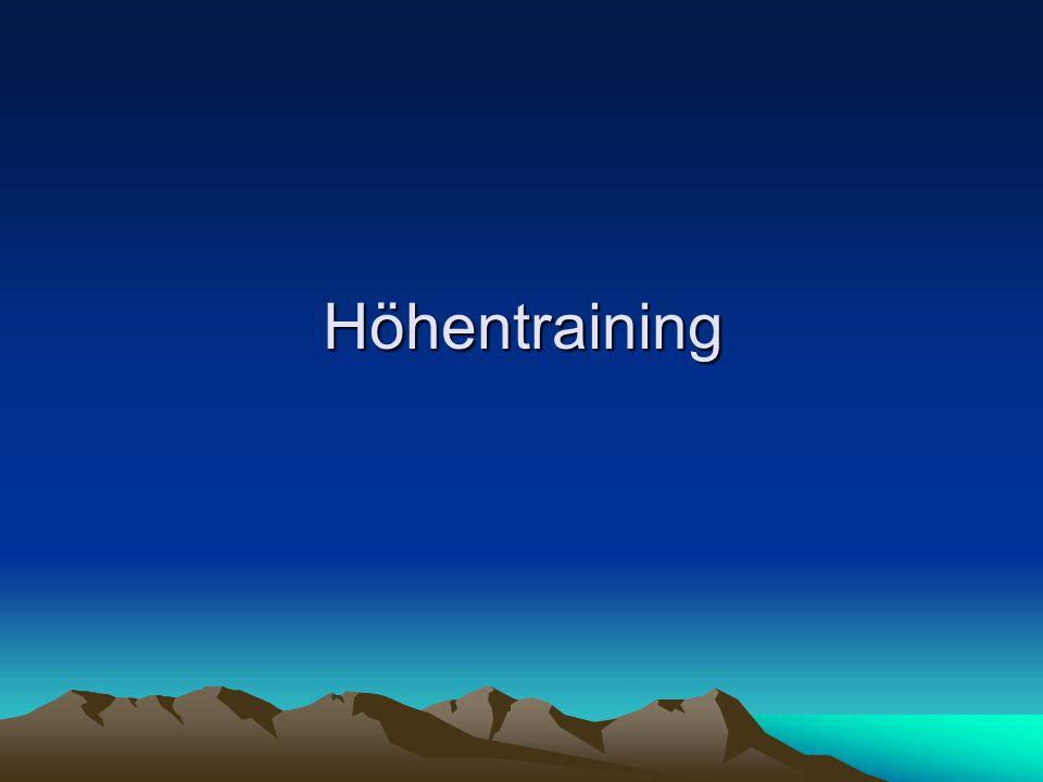 Höhentraining