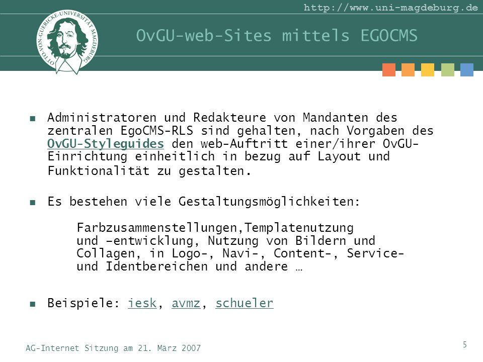AG-Internet Sitzung am 21.