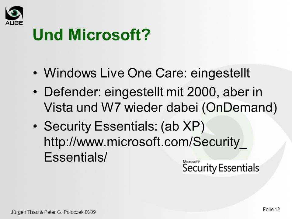 Jürgen Thau & Peter G. Poloczek IX/09 Folie 12 Und Microsoft.