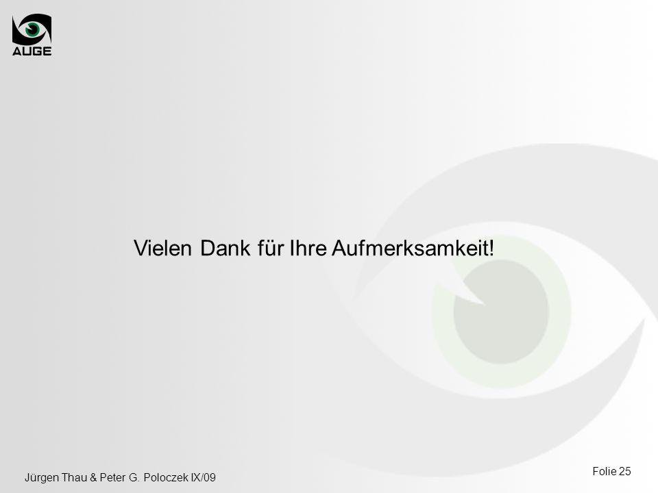 Jürgen Thau & Peter G. Poloczek IX/09 Folie 25 Vielen Dank für Ihre Aufmerksamkeit!