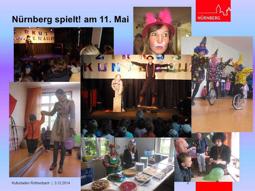 Nürnberg spielt! am 11. Mai Kulturladen Röthenbach | 3.12.2014 4