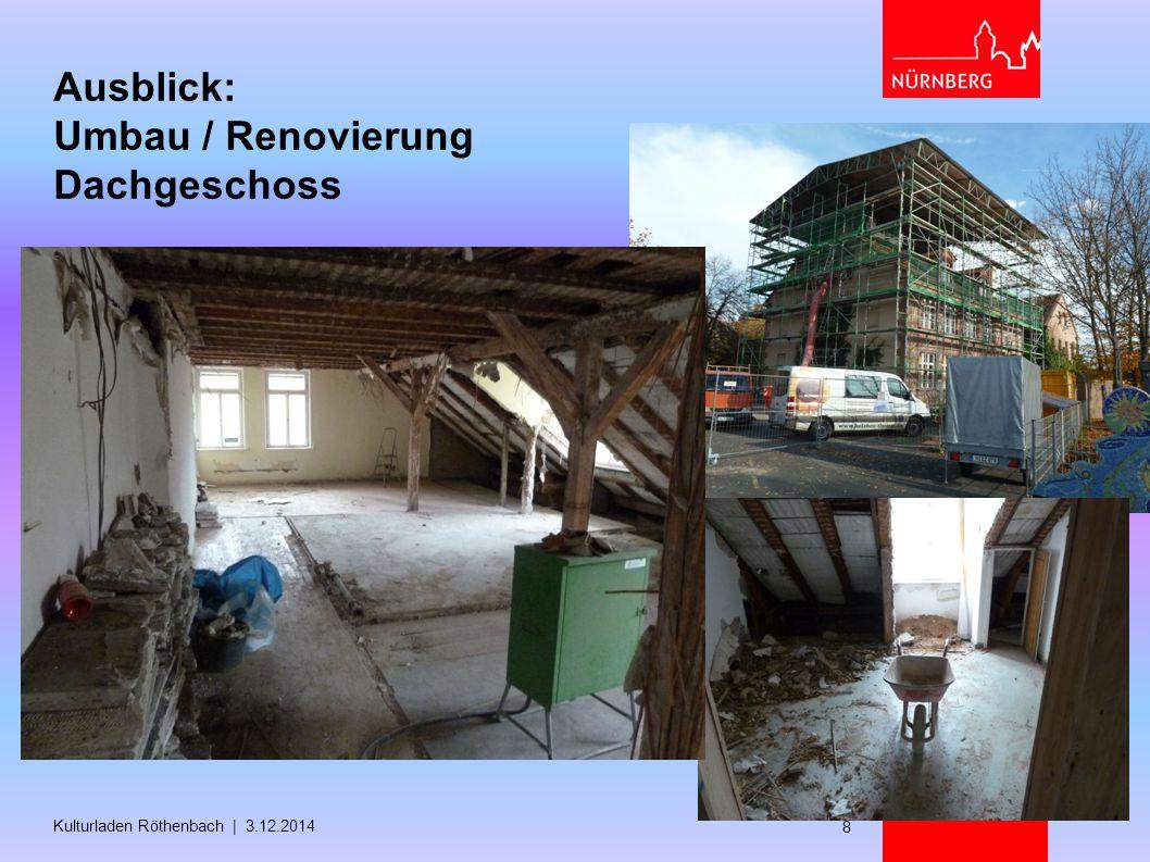 Ausblick: Umbau / Renovierung Dachgeschoss Kulturladen Röthenbach | 3.12.2014 8