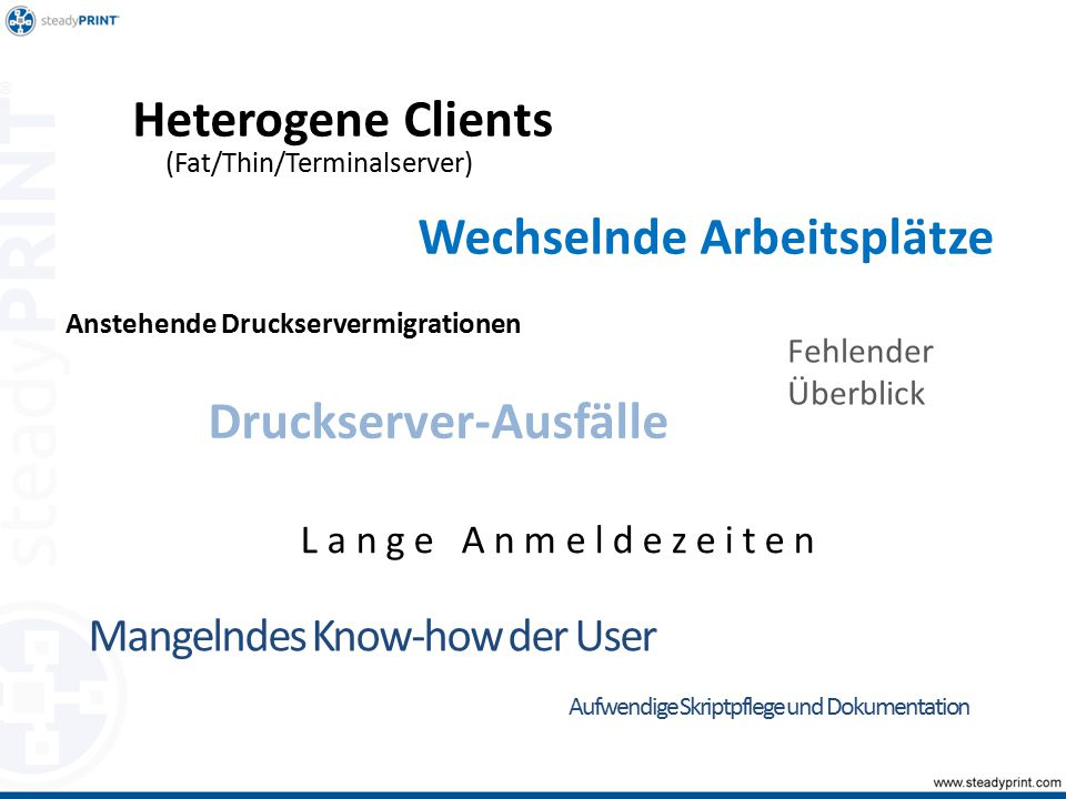 Zentrale Verwaltung Monitoring & Reporting Ausfall- sicherheit Druckserver- Migration Druckerverwaltung für Benutzer