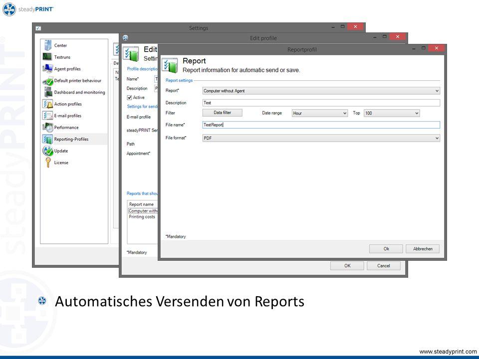 Automatisches Versenden von Reports