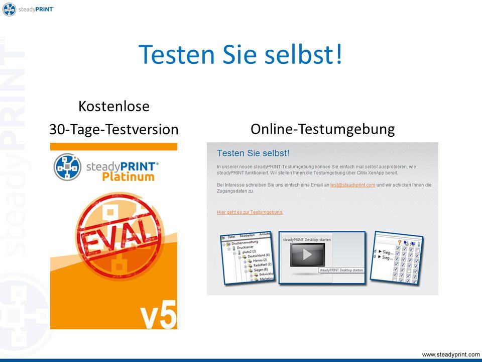 Testen Sie selbst! Kostenlose 30-Tage-Testversion Online-Testumgebung