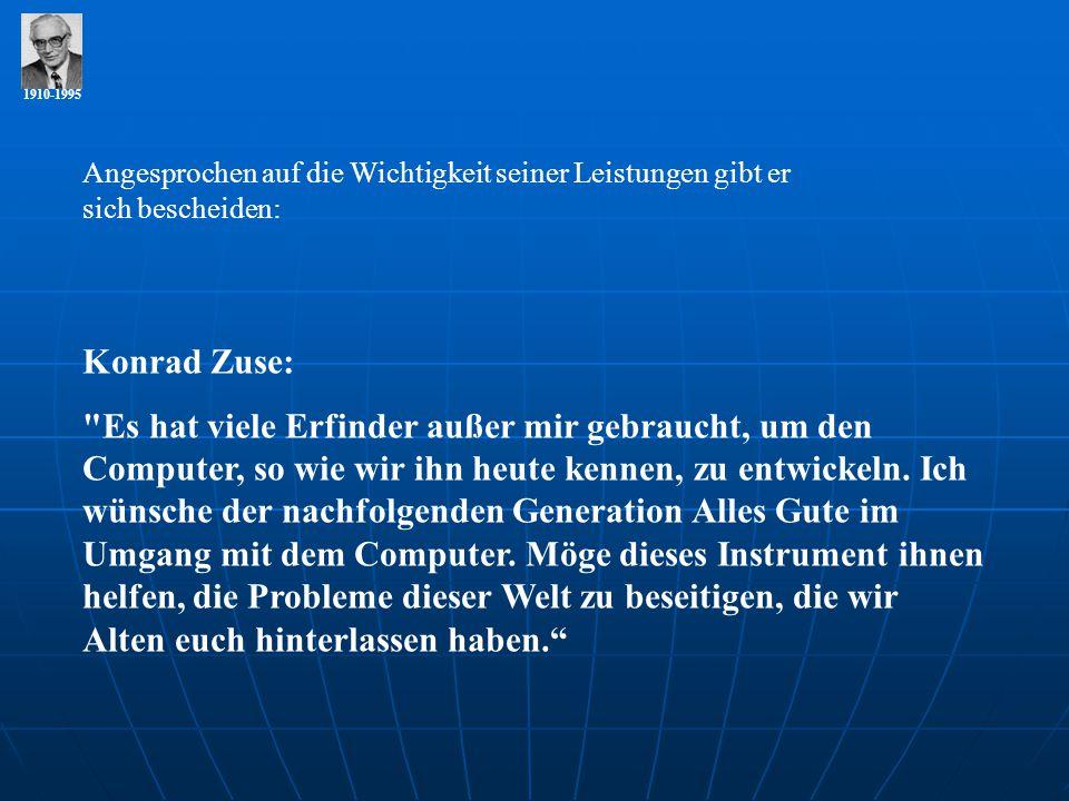 1910-1995 Konrad Zuse: