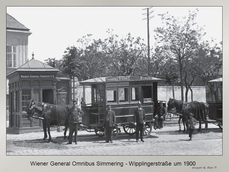 Wiener General Omnibus Simmering - Wipplingerstraße um 1900