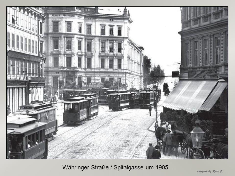 Währinger Straße / Spitalgasse um 1905