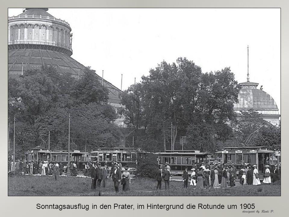 Museumsstraße um 1905 Linie führte überFranz-Josefs Kai zum Praterstern
