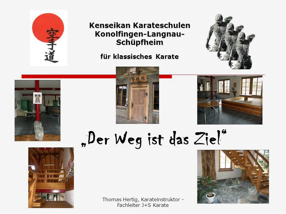 """Thomas Hertig, Karateinstruktor - Fachleiter J+S Karate 2 Kenseikan Karateschulen Konolfingen-Langnau- Schüpfheim für klassisches Karate """"Der Ort des Weges - Dojo"""