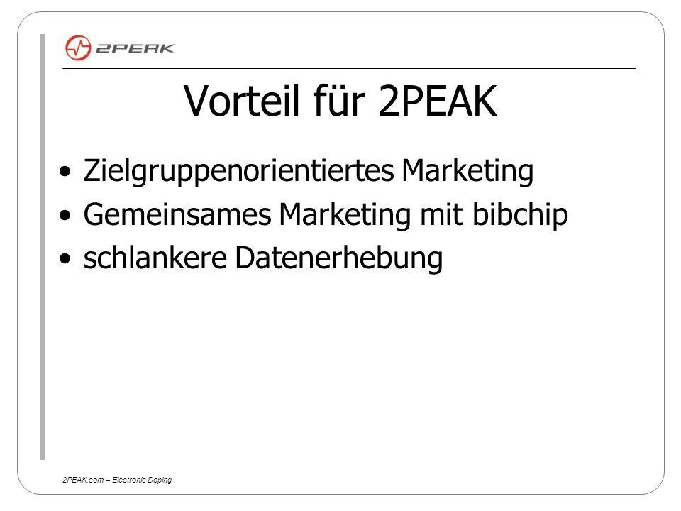 2PEAK.com – Electronic Doping Kosten pro Teilnehmer 2,50 Euro Startnummer 1,50 Euro versenden der Startnummer 3 Euro bibchip 3 Euro 2PEAK Summe 10 Euro (incl.