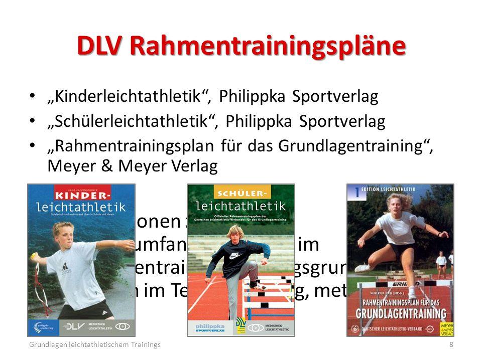 """DLV Rahmentrainingspläne """"Kinderleichtathletik"""", Philippka Sportverlag """"Schülerleichtathletik"""", Philippka Sportverlag """"Rahmentrainingsplan für das Gru"""