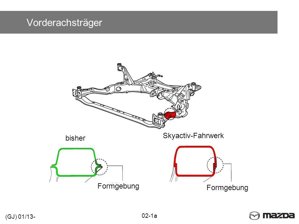 Vorderachsträger 02-1a bisher Skyactiv-Fahrwerk Formgebung (GJ) 01/13-