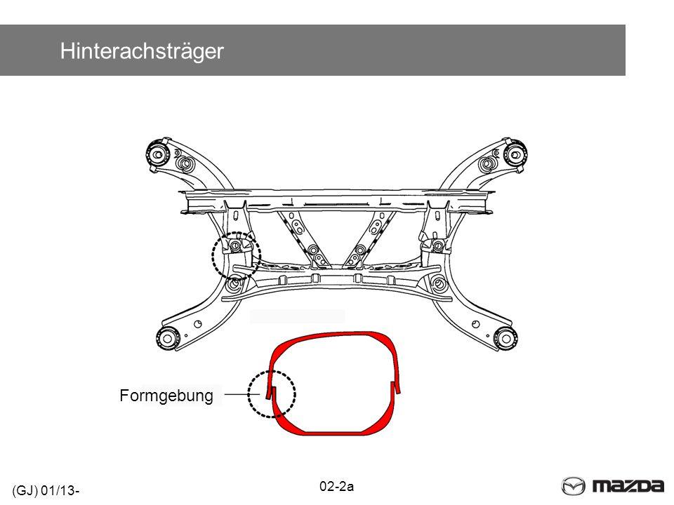 Technische Daten - Räder BauteilSpezifikation Felgen (Aluminium)17 x 7 1/2J19 x 7 1/2J Einpresstiefe50 mm 45 mm Lochkreisdurchmesser114,3 mm Bereifung225/55R17 97V225/45R19 92W Reifendruck (V/H)2,3/2,3 bar (2,5/3,2 bar voll beladen) NotradReifenreparatursatz Anzugsdrehmoment108,0 – 147,0 Nm 02-3 (GJ) 01/13-
