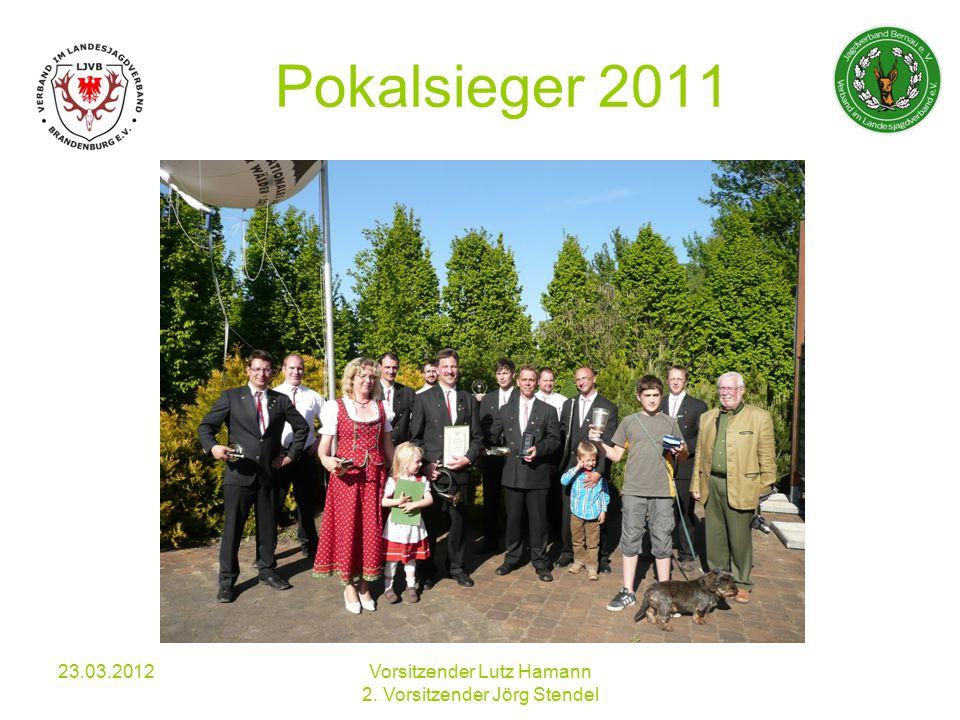 Pokalsieger 2011 23.03.2012Vorsitzender Lutz Hamann 2. Vorsitzender Jörg Stendel