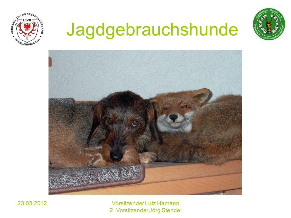 Jagdgebrauchshunde 23.03.2012Vorsitzender Lutz Hamann 2. Vorsitzender Jörg Stendel