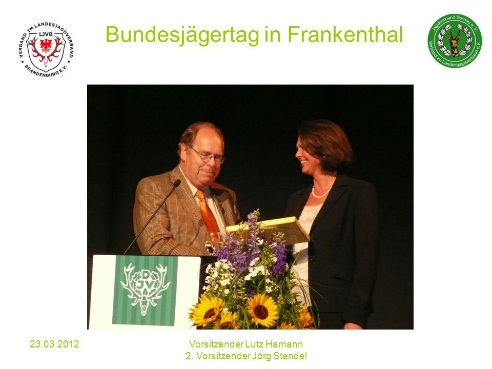 Verhinderung von Wildunfällen an der B 158 23.03.2012Vorsitzender Lutz Hamann 2.