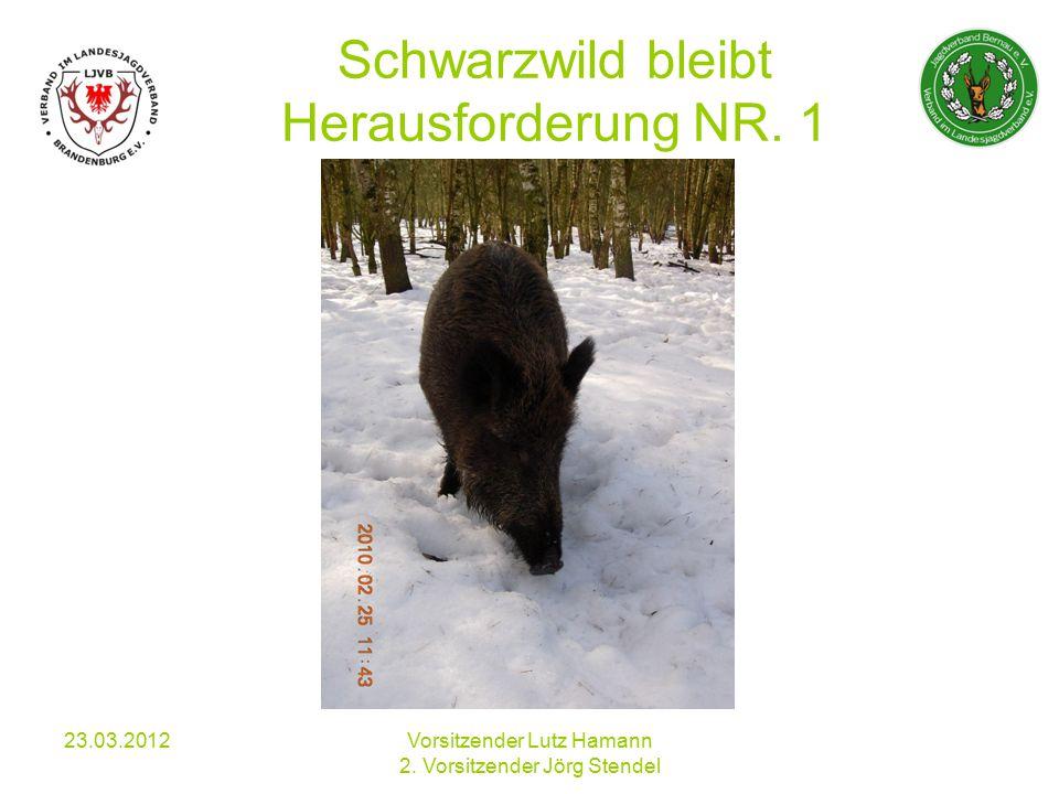 Schwarzwild bleibt Herausforderung NR. 1 23.03.2012Vorsitzender Lutz Hamann 2.