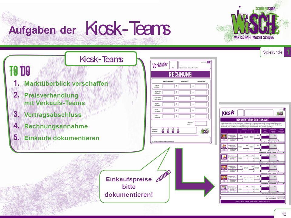 Aufgaben der 12 1.Marktüberblick verschaffen 2. Preisverhandlung mit Verkaufs-Teams 3.