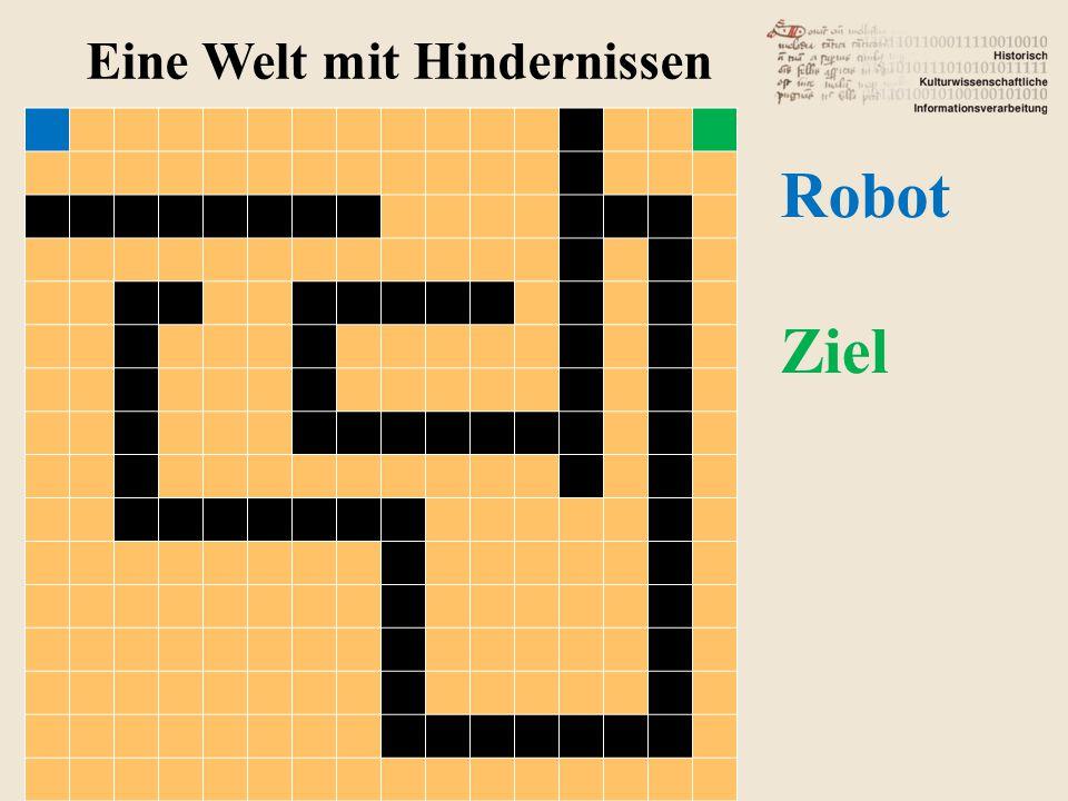 Eine Welt mit Hindernissen Robot Ziel